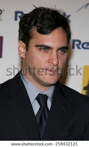 Joaquin Phoenix at the 9th Annual Hollywood Film Festival Awards Gala Ceremony held at the Beverly Hilton Hotel in Beverly Hills, California United States on October 24, 2005. - stock photo
