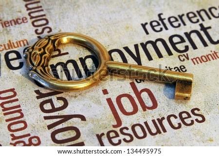 Job and key concept - stock photo