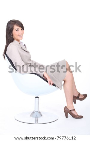 Job applicant waiting for an interview - stock photo