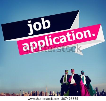 Job Application Applying Recruitment Occupation Career Concept - stock photo