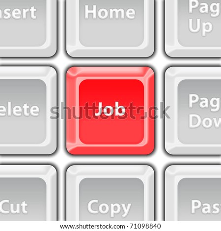 job button - stock photo