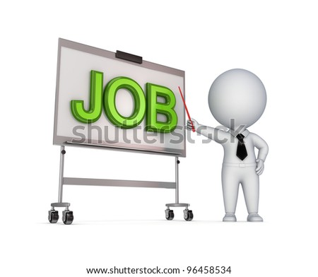JOB concept.Isolated on white background.3d rendered. - stock photo