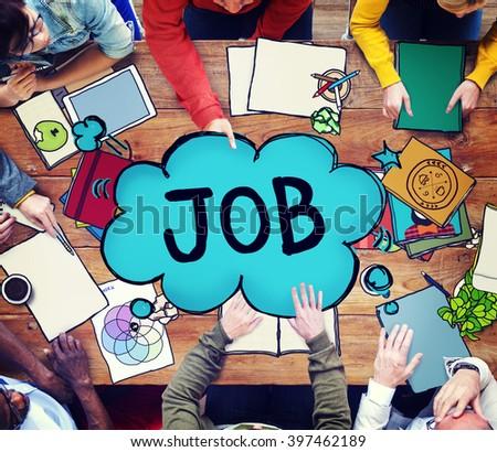 Job Employment Career Occupation Goals Concept - stock photo