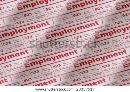 Job employment in newspaper ads - stock photo
