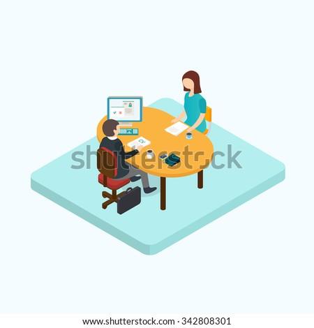 Job interview concept.  - stock photo