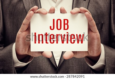 Job Interview. Employment Concept - stock photo