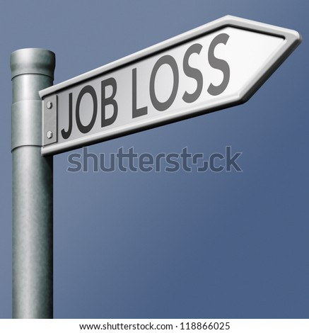 job loss being fired losing work - stock photo