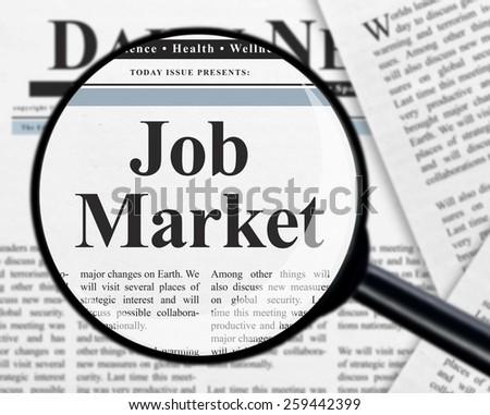 Job market - stock photo