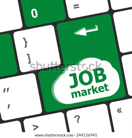 Job market key on the computer keyboard