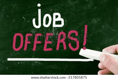 job offers concept - stock photo