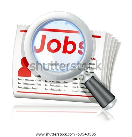 Job Search, bitmap copy - stock photo