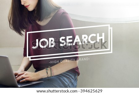 Job Search Employment Headhunting Career Concept - stock photo