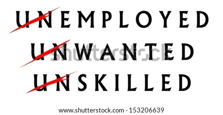 job skills are the keys to becoming employed - stock photo