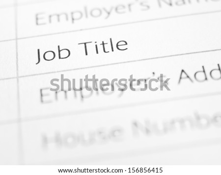 JOB TITLE on printed form