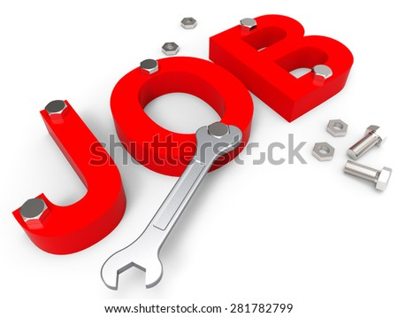 Job Word Representing Employ Me And Hiring - stock photo