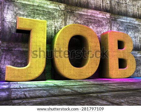 Job Word Showing Employ Me And Apply - stock photo