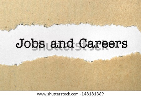 Jobs and careers - stock photo