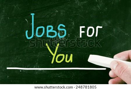 jobs for you concept - stock photo