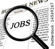 jobs in the news paper - stock photo