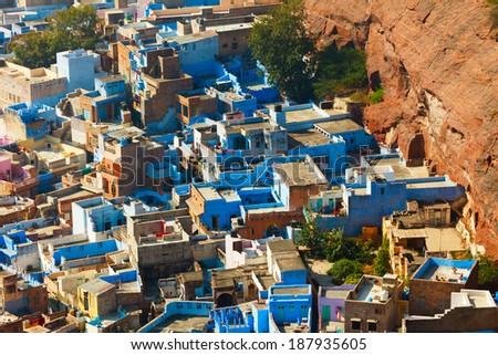 Jodhpur, Blue City, India - stock photo