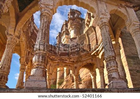 Jodhpur, Fort Mehrangarh. India - stock photo