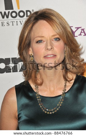 Jodie Foster at the 14th Annual Hollywood Awards Gala at the Beverly Hilton Hotel. October 25, 2010  Beverly Hills, CA Picture: Paul Smith / Featureflash
