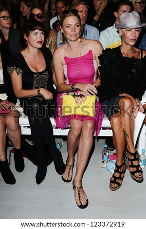 Jodie Kidd at the Jasper Conran catwalk show as part of London Fashion Week SS13, Somerset House, London.14/09/2012 Picture by: Steve Vas