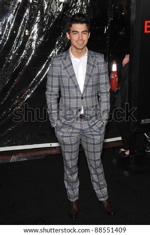 """Joe Jonas - of The Jonas Brothers - at the Los Angeles premiere of """"Edge of Darkness"""" at Grauman's Chinese Theatre, Hollywood. January 26, 2010  Los Angeles, CA Picture: Paul Smith / Featureflash - stock photo"""