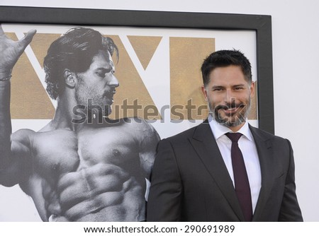 Joe Manganiello at the World premiere of 'Magic Mike XXL' held at the TCL Chinese Theatre in Hollywood, USA on June 25, 2015. - stock photo
