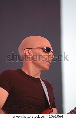 Joe Satriani on stage - stock photo