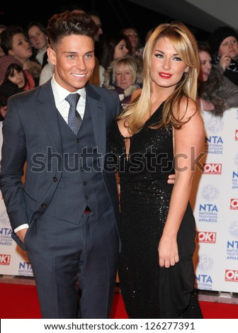 Joey Essex and Sam Faiers arriving for the National Television Awards 2013, at the O2 Arena, London. 23/01/2013 Picture by: Alexandra Glen