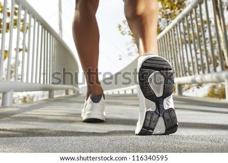 Jogging man - stock photo