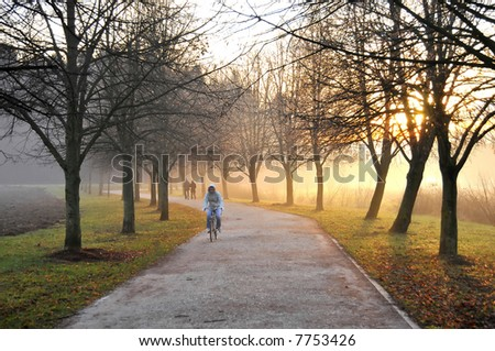 Jogging morning - stock photo
