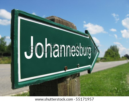 JOHANNESBERG road sign - stock photo