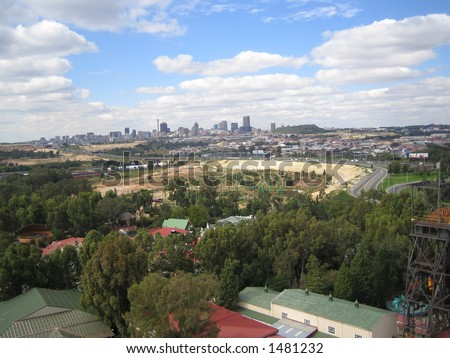 Johannesburg viwed from a distance - stock photo