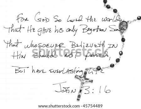 John 3:16 - stock photo