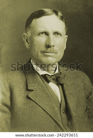 John B. Kendrick (1857-1933), Democratic Senator from Wyoming, was among the first to learn about Teapot Dome oil leasing corruption. With Robert La Follette, he informed Thomas J. Walsh. Ca. 1920.