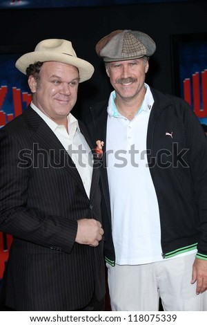 "John C. Reilly, Will Ferrell at the ""Wreck-It Ralph"" Film Premiere, El Capitan, Hollywood, CA 10-29-12 - stock photo"