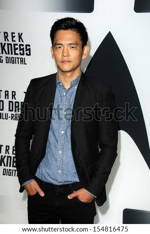 "John Cho at the ""Star Trek Into Darkness"" Blu-Ray and DVD Release Party, California Science Center, Los Angeles, CA 09-10-13 - stock photo"