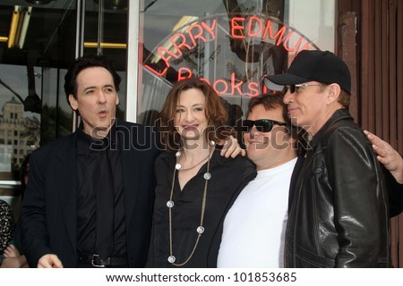 John Cusack, Joan Cusack, Jack Black, Billy Bob Thornton at the John Cusack Star On The Hollywood Walk Of Fame, Hollywood, CA 04-24-12 - stock photo