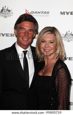 John Easterling and Olivia Newton John at the G'Day USA Australia Week 2011 Black Tie Gala, Hollywood Palladium, Hollywood, CA. 01-22-1 - stock photo
