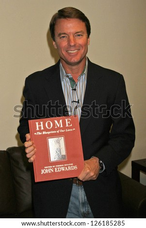 "John Edwards making an appearance promoting his book ""Home: the Blueprints of Our Lives"". All Saints Church, Pasadena, California. December 4, 2006."