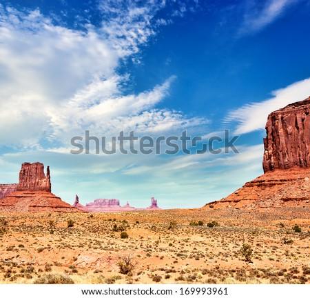 John Ford's Point at Monument Valley, Arizona-Utah, USA - stock photo