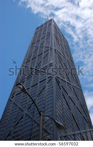 John Hancock building; Chicago architecture - stock photo