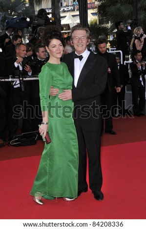 "John Hurt & wife at world premiere for ""Indiana Jones and the Kingdom of the Crystal Skull"" at the 61st Annual Cannes Film Festival May 18, 2008  Cannes, France. Picture: Paul Smith / Featureflash"
