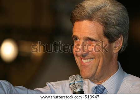 John Kerry at campaign event, Brooklyn, NY