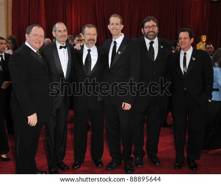 John Lasseter & Steve Jobs & Pete Docter at the 82nd Annual Academy Awards at the Kodak Theatre, Hollywood. March 7, 2010  Los Angeles, CA Picture: Paul Smith / Featureflash - stock photo
