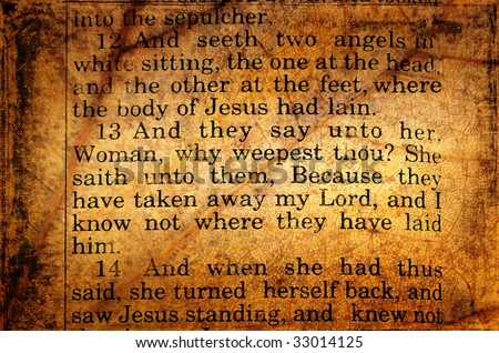 John 20:13. Mary seeks Jesus Bible verse.