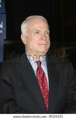 John McCain at pre-debate rally in Myrtle Beach, SC January 10, 2008 - stock photo
