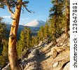John Muir Trail & Pacific Crest Trail in the Sierra Nevada, California, USA - stock photo